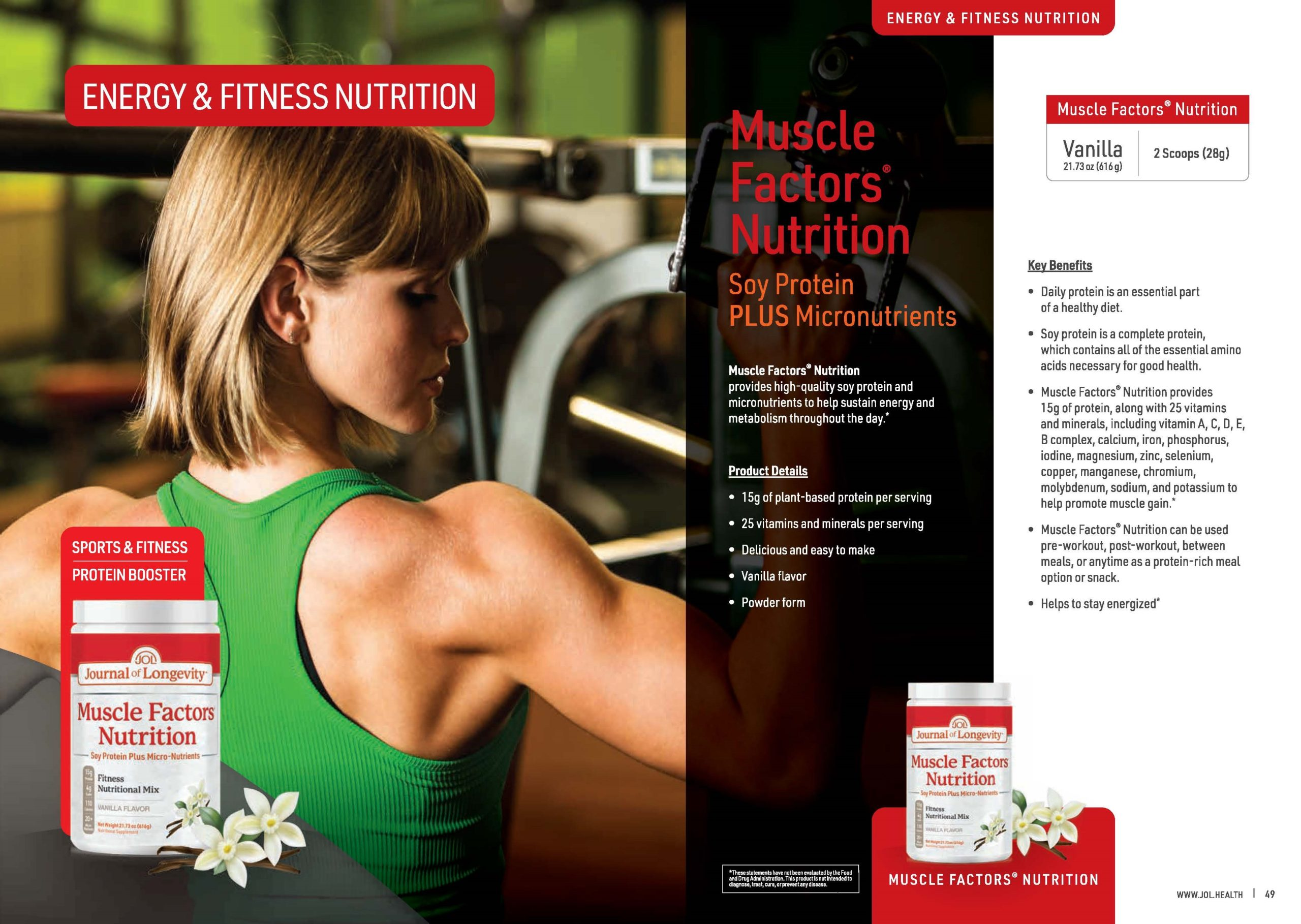 Journal of Longevity Muscle Factors Nutrition Soy Protein Powder Supplement For Sports And Fitness