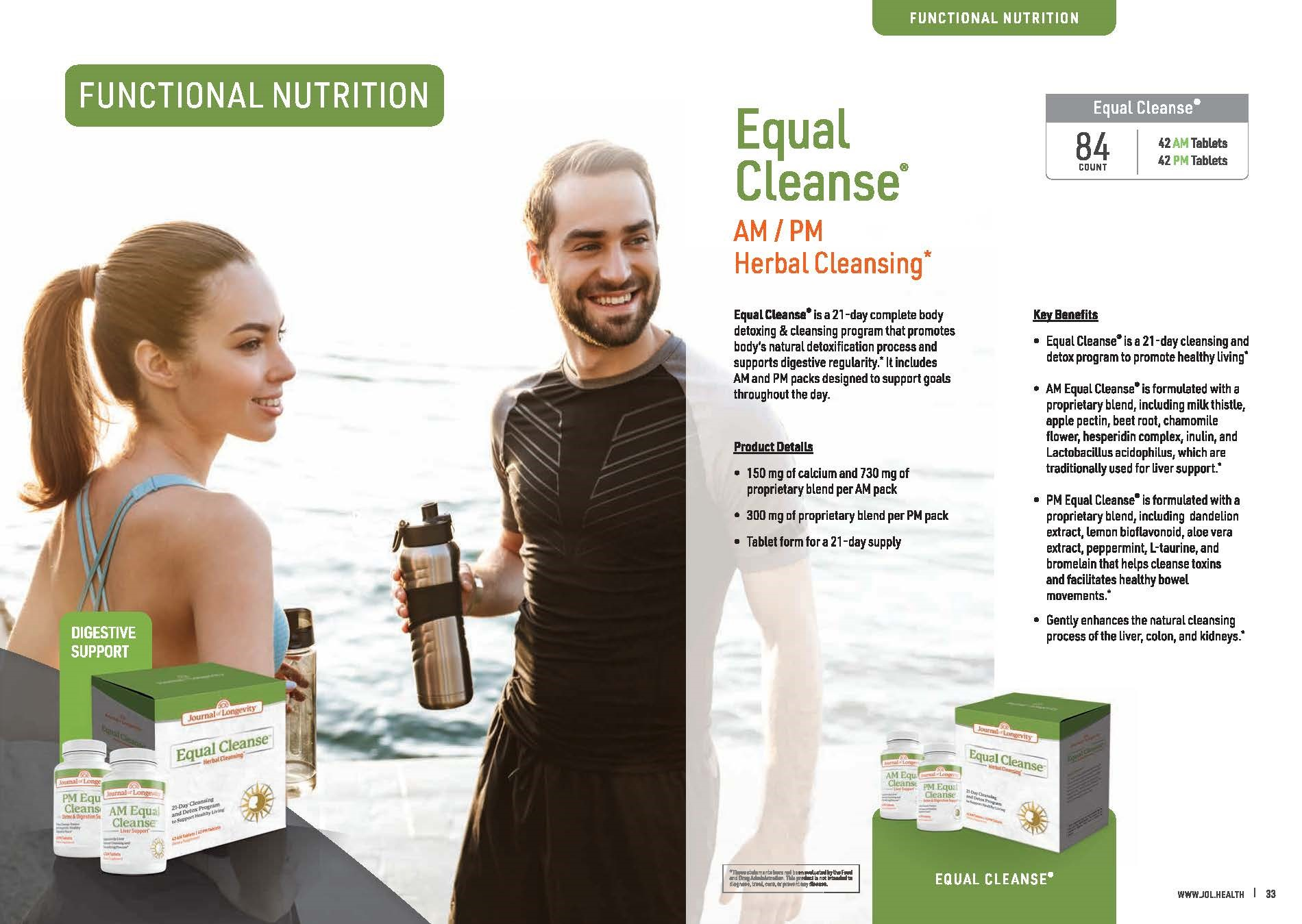 Journal of Longevity Equal Cleanse - Cleansing Detox For Digestion Support