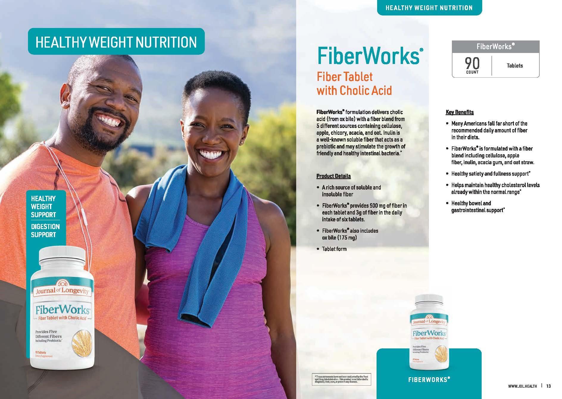 Journal of Longevity Fiber Works Tablet with Cholic Acid Supplement Nutrition