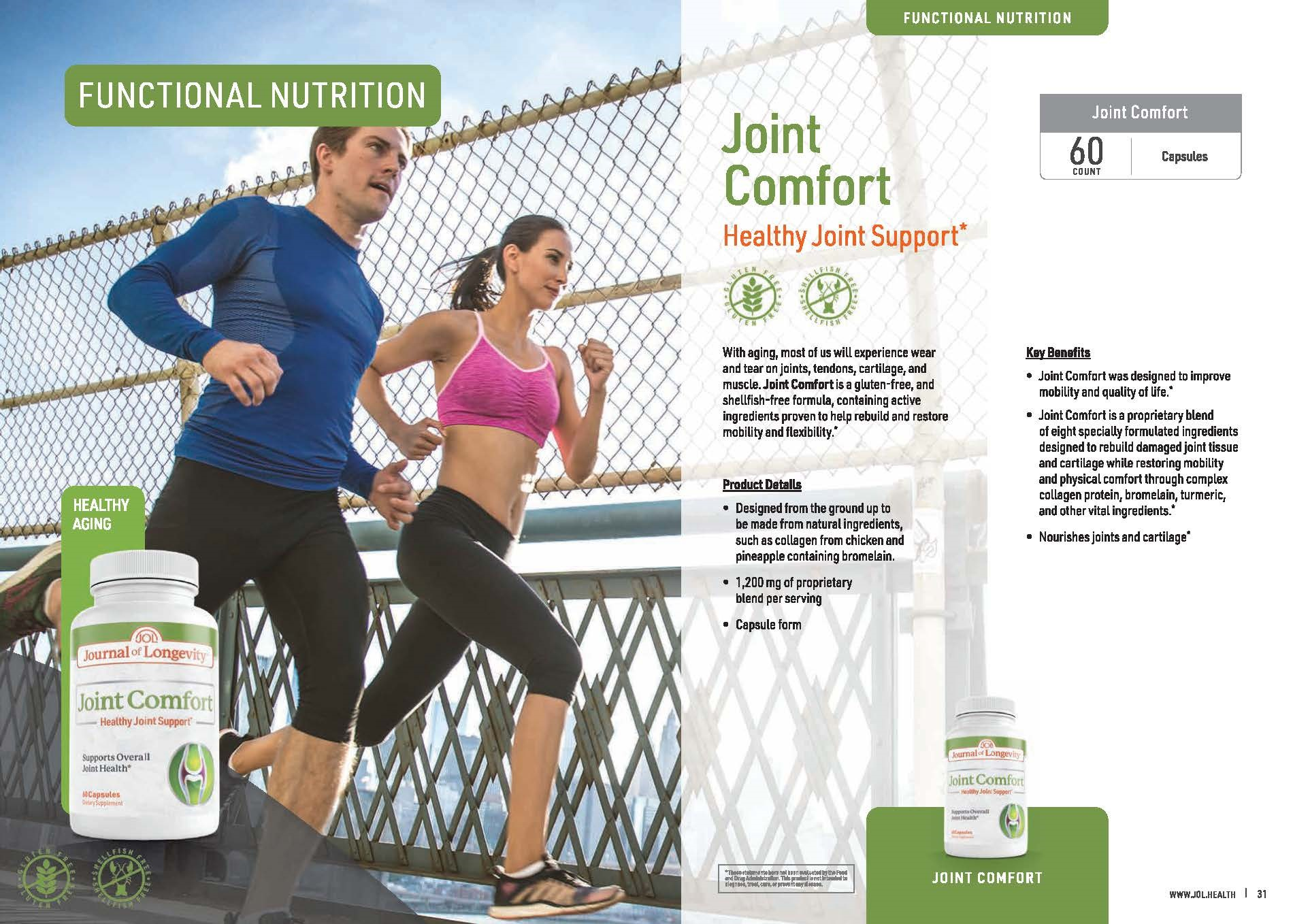 Journal of Longevity Joint Comfort Supplement For Joint Mobility and Support
