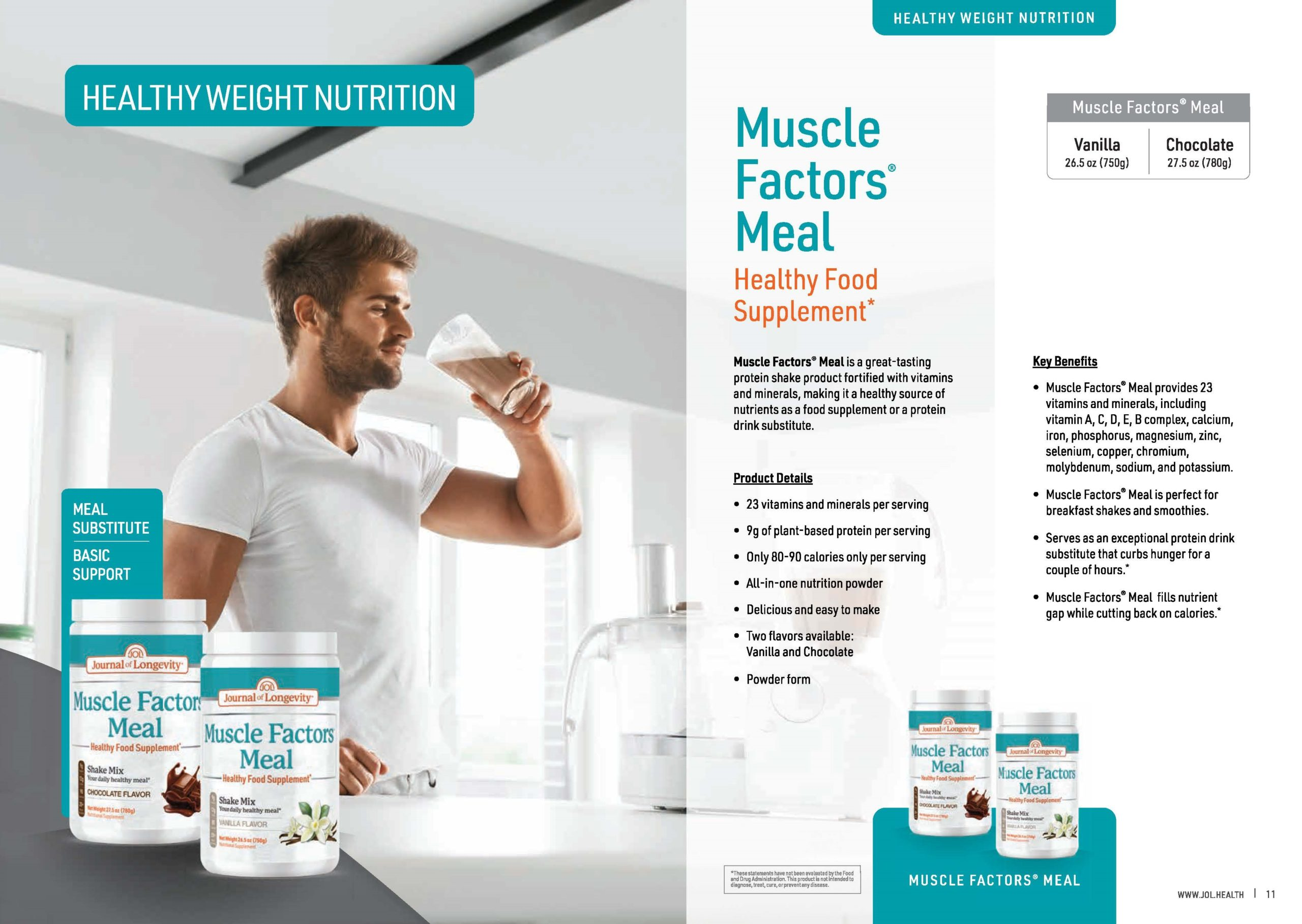 Journal of Longevity Muscle Factors Meal Protein And Meal Supplement With Vitamins
