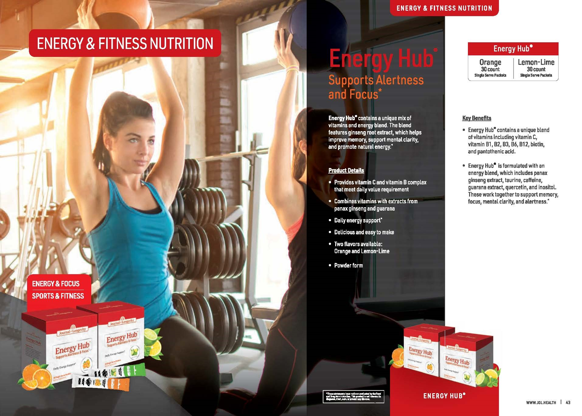 Journal of Longevity Energy Hub Powder Form Supplement For Energy And Focus - Sports And Fitness